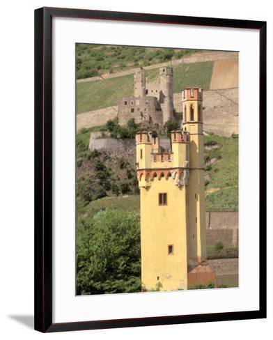The Mauseturm, Former Customs House, Bingen, Pfalz, Rhineland, Germany-Walter Bibikow-Framed Art Print