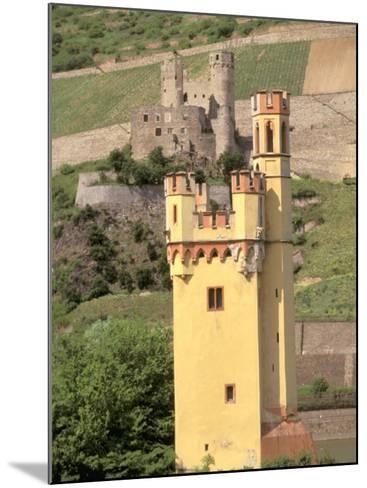 The Mauseturm, Former Customs House, Bingen, Pfalz, Rhineland, Germany-Walter Bibikow-Mounted Photographic Print