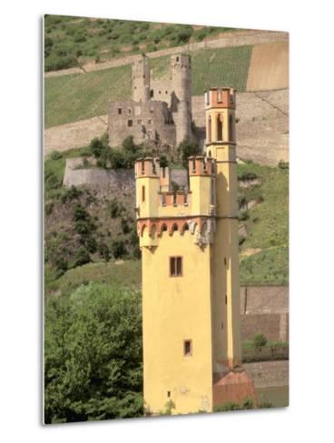 The Mauseturm, Former Customs House, Bingen, Pfalz, Rhineland, Germany-Walter Bibikow-Metal Print