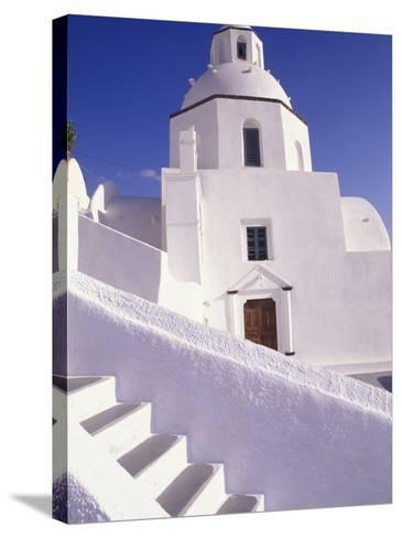 White Architecture, Santorini, Greece-Bill Bachmann-Stretched Canvas Print