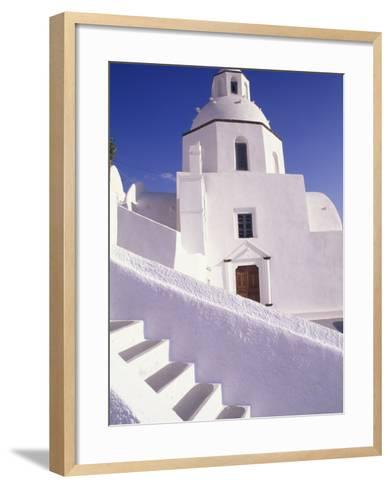 White Architecture, Santorini, Greece-Bill Bachmann-Framed Art Print
