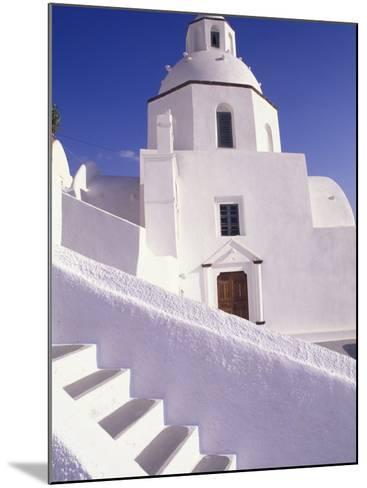 White Architecture, Santorini, Greece-Bill Bachmann-Mounted Photographic Print