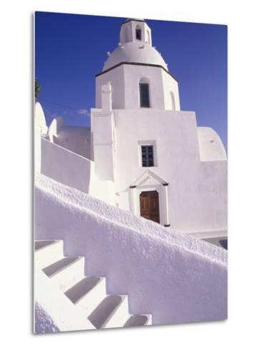 White Architecture, Santorini, Greece-Bill Bachmann-Metal Print