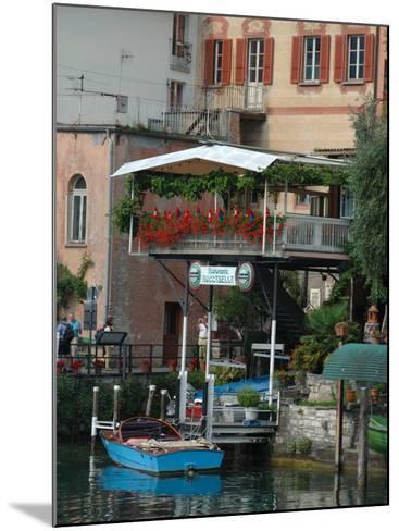 Lakeside Village Cafe, Lake Lugano, Lugano, Switzerland-Lisa S^ Engelbrecht-Mounted Photographic Print