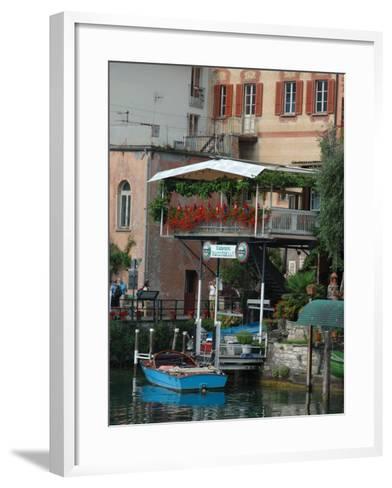 Lakeside Village Cafe, Lake Lugano, Lugano, Switzerland-Lisa S^ Engelbrecht-Framed Art Print