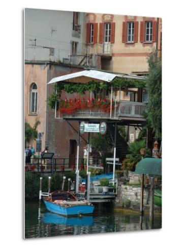 Lakeside Village Cafe, Lake Lugano, Lugano, Switzerland-Lisa S^ Engelbrecht-Metal Print