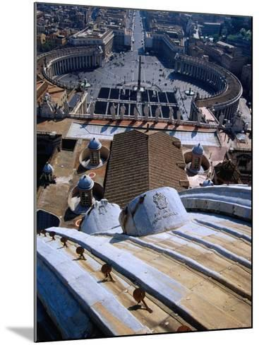 Unequalled View of Rome and Piazza San Pietro from Dome of St. Peter's Basilica, Vatican City-Glenn Beanland-Mounted Photographic Print