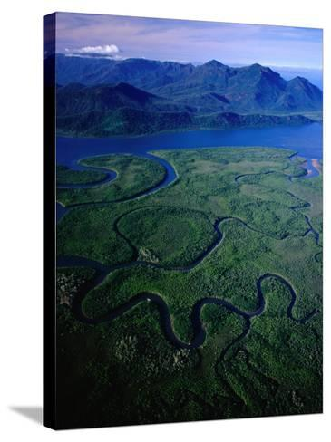 Aerial of Hinchinbrook Channel & Island, Hinchinbrook Island National Park, Australia-Richard I'Anson-Stretched Canvas Print