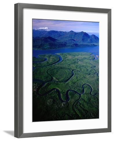 Aerial of Hinchinbrook Channel & Island, Hinchinbrook Island National Park, Australia-Richard I'Anson-Framed Art Print