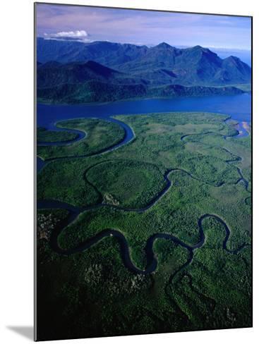 Aerial of Hinchinbrook Channel & Island, Hinchinbrook Island National Park, Australia-Richard I'Anson-Mounted Photographic Print