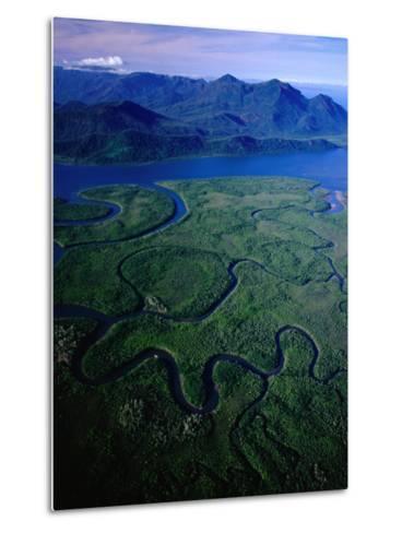 Aerial of Hinchinbrook Channel & Island, Hinchinbrook Island National Park, Australia-Richard I'Anson-Metal Print