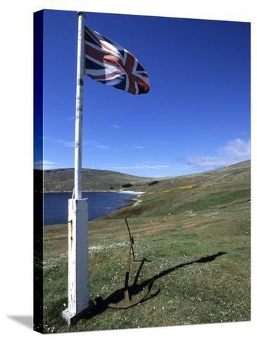 Union Jack British Flag, Falkland Islands-Holger Leue-Stretched Canvas Print