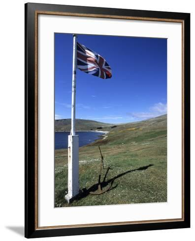 Union Jack British Flag, Falkland Islands-Holger Leue-Framed Art Print