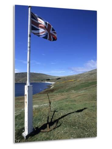 Union Jack British Flag, Falkland Islands-Holger Leue-Metal Print