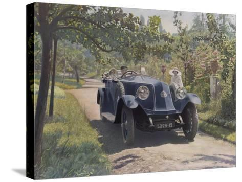 The Chauffeur of a Renault 40CV Torpedo Sport--Stretched Canvas Print