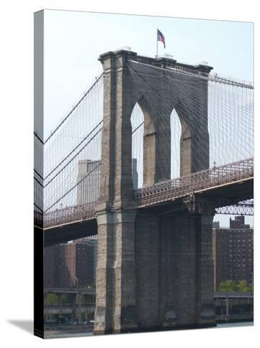 Bridge, New York City-Keith Levit-Stretched Canvas Print