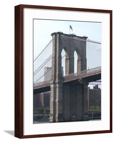 Bridge, New York City-Keith Levit-Framed Art Print