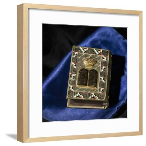 Siddur, Jewish Prayerbook-Keith Levit-Framed Art Print