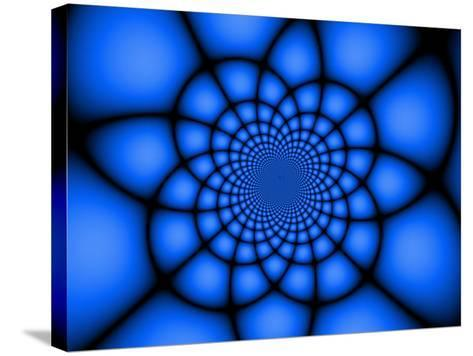 Abstract Blue Fractal Design-Albert Klein-Stretched Canvas Print