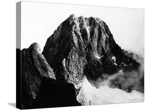 View of the Peak of Pizzo Badile in Val Masino, Sondrio--Stretched Canvas Print