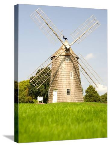 Veteran's Memorial and Wind Mill, East Hampton, New York, USA-Michele Westmorland-Stretched Canvas Print