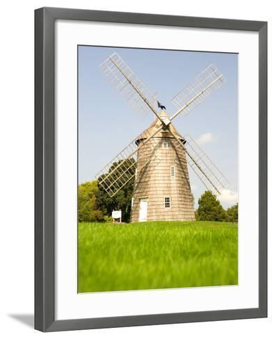 Veteran's Memorial and Wind Mill, East Hampton, New York, USA-Michele Westmorland-Framed Art Print