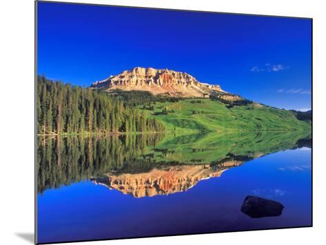 Reflection of Beartooth Butte into Beartooth Lake, Wyoming, USA-Chuck Haney-Mounted Photographic Print