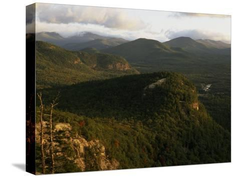 Cathedral Ledge and the White Mountains, New Hampshire-Phil Schermeister-Stretched Canvas Print