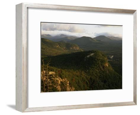 Cathedral Ledge and the White Mountains, New Hampshire-Phil Schermeister-Framed Art Print
