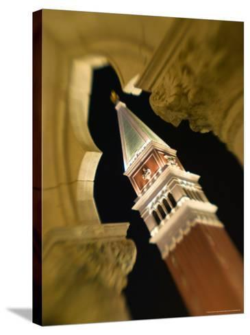 View of the Campanile, The Venetian Casino, Las Vegas, Nevada, USA-Walter Bibikow-Stretched Canvas Print