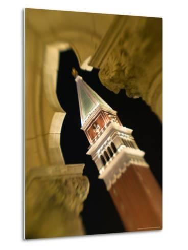 View of the Campanile, The Venetian Casino, Las Vegas, Nevada, USA-Walter Bibikow-Metal Print