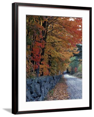 Fall Colors in the White Mountains, New Hampshire, USA-Jerry & Marcy Monkman-Framed Art Print