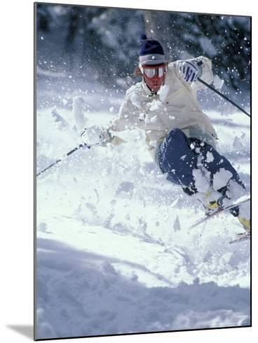 Skiing in Taos, New Mexico, USA-Lee Kopfler-Mounted Photographic Print