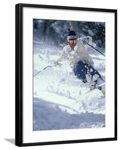 Skiing in Taos, New Mexico, USA-Lee Kopfler-Framed Art Print