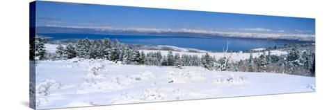 Snow above Bear Lake in the Wasatch-Cache National Forest, Utah, USA-Scott T^ Smith-Stretched Canvas Print