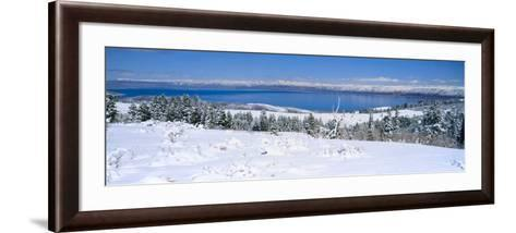 Snow above Bear Lake in the Wasatch-Cache National Forest, Utah, USA-Scott T^ Smith-Framed Art Print