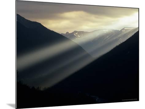 Sunset in Mt. Rainier National Park, Washington, USA-Jerry Ginsberg-Mounted Photographic Print