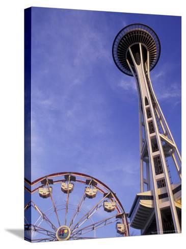 Amusement Park Ride at Seattle Center, Seattle, Washington, USA-John & Lisa Merrill-Stretched Canvas Print