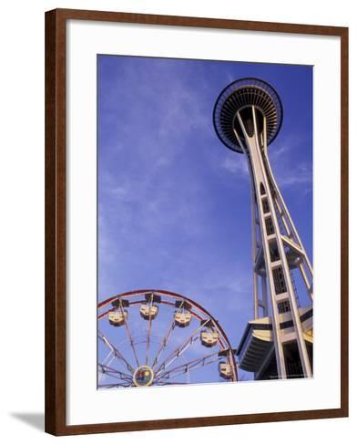 Amusement Park Ride at Seattle Center, Seattle, Washington, USA-John & Lisa Merrill-Framed Art Print