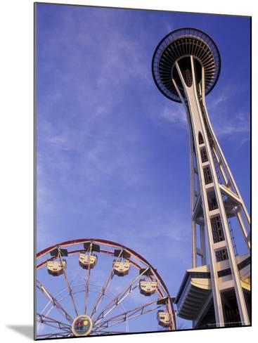 Amusement Park Ride at Seattle Center, Seattle, Washington, USA-John & Lisa Merrill-Mounted Photographic Print