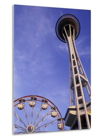 Amusement Park Ride at Seattle Center, Seattle, Washington, USA-John & Lisa Merrill-Metal Print