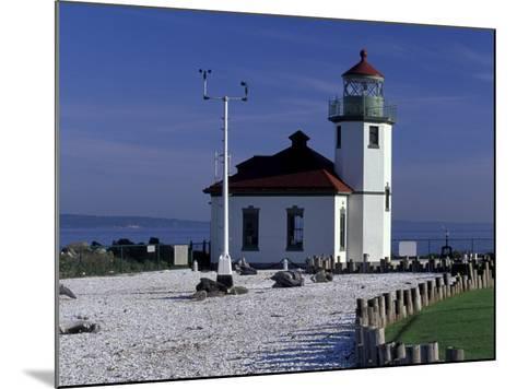 Alki Point Lighthouse on Elliot Bay, Seattle, Washington, USA--Mounted Photographic Print