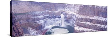 Winter Snow in the Palouse Falls, Washington, USA-Terry Eggers-Stretched Canvas Print