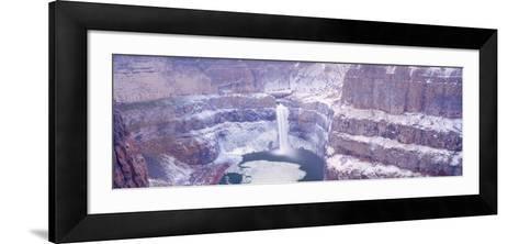 Winter Snow in the Palouse Falls, Washington, USA-Terry Eggers-Framed Art Print