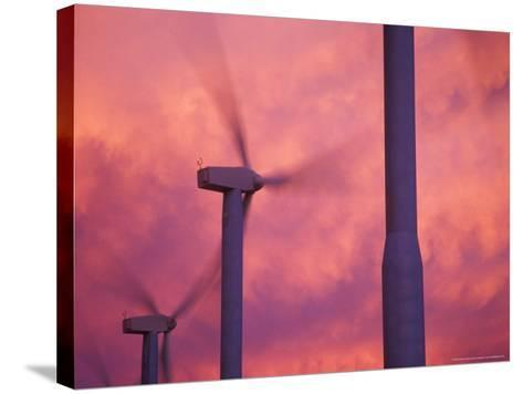 Wind Turbines at the Stateline Wind Project, Walla Walla County, Washington, USA-Brent Bergherm-Stretched Canvas Print