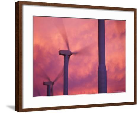 Wind Turbines at the Stateline Wind Project, Walla Walla County, Washington, USA-Brent Bergherm-Framed Art Print