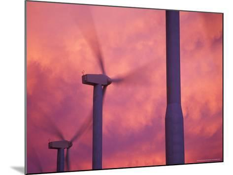 Wind Turbines at the Stateline Wind Project, Walla Walla County, Washington, USA-Brent Bergherm-Mounted Photographic Print