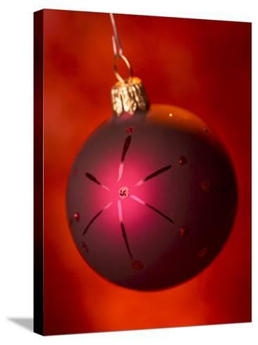 Close-up of Beautiful Christmas Ornament--Stretched Canvas Print