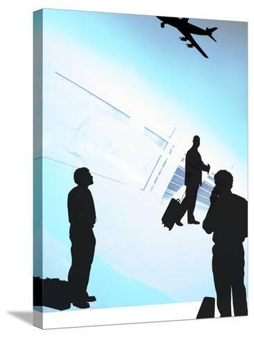 Human Shadow Figures at an Airport--Stretched Canvas Print