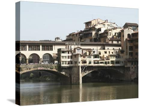 The Ponte Vecchio of Florence Spanning the Arno River--Stretched Canvas Print